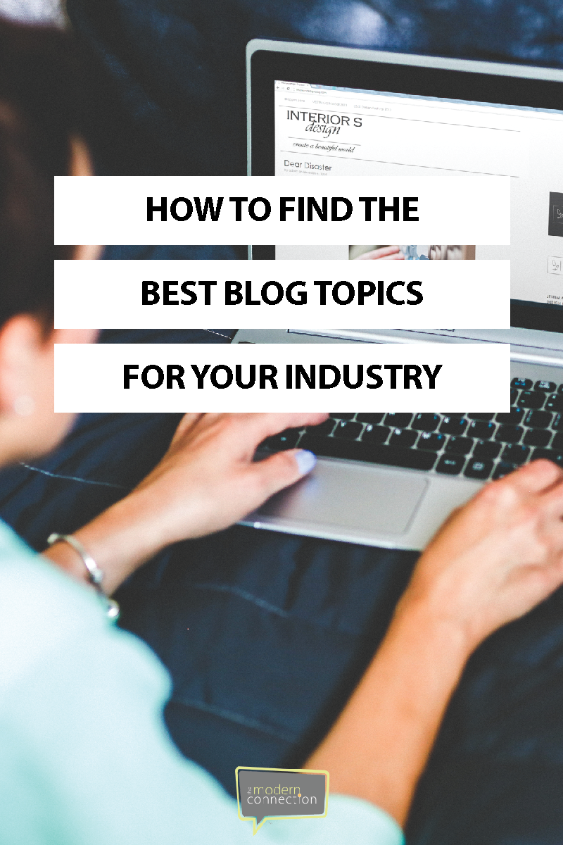 How to Find the Best Blog Topics for Your Industry